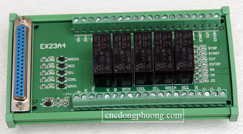 bảng kết nối Card điều khiển máy CNC V8