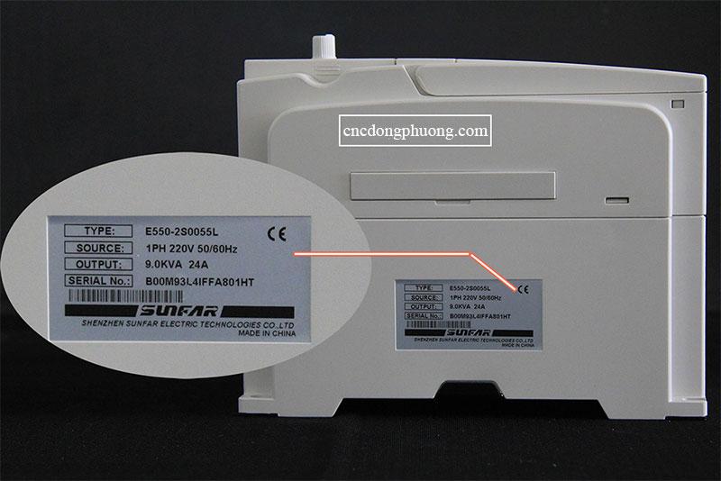 biến tần sunfar E500 loại 5,5kw
