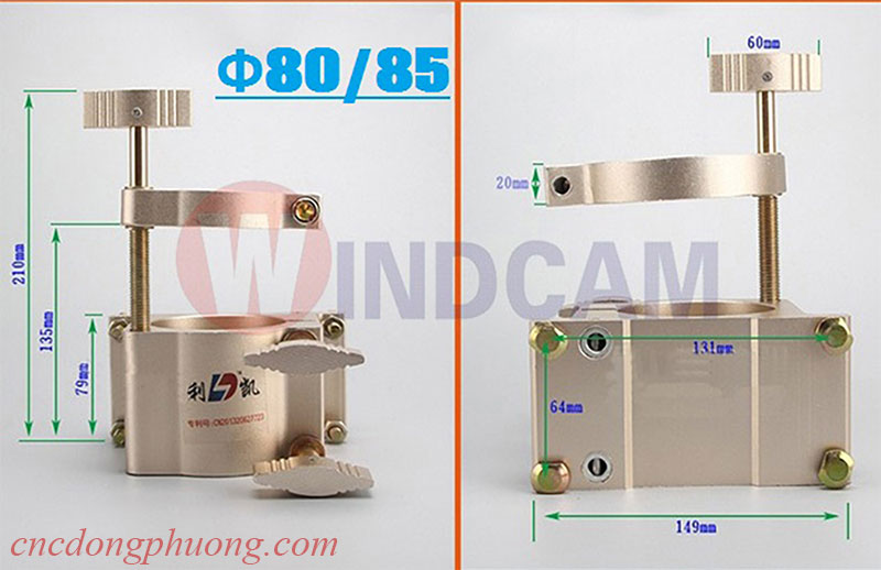 Gá kẹp nâng hạ đường kính 80 - 85mm