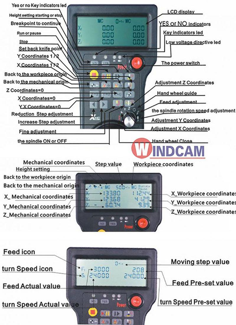 hướng dẫn sử dụng bộ điều khiển máy cnc không dây HB03