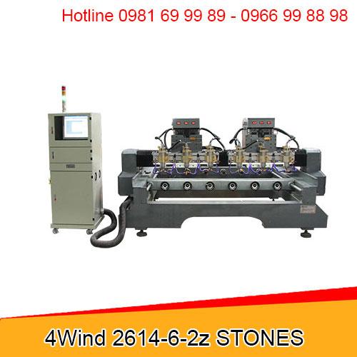 Máy CNC đục tượng đá 6 đầu 2 trục Z