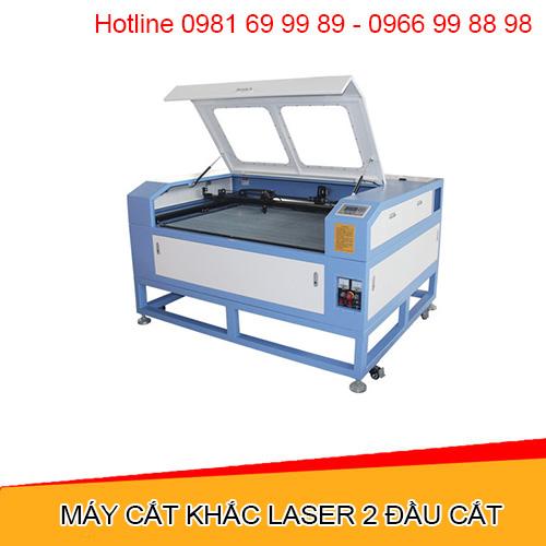 Máy cắt khắc laser 2 đầu cắt