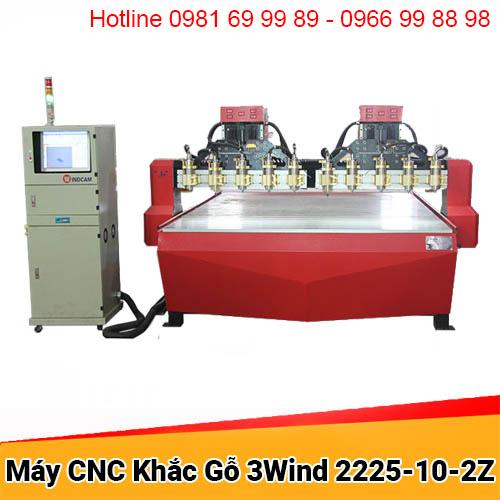 Máy CNC đục gỗ 10 đầu 2 trục Z khổ 2225