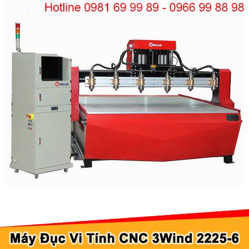 Máy CNC đục gỗ 6 đầu 1 trục Z khổ 2225