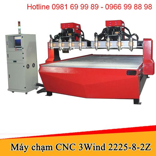 Máy CNC đục gỗ 8 đầu 2 trục Z khổ 2225