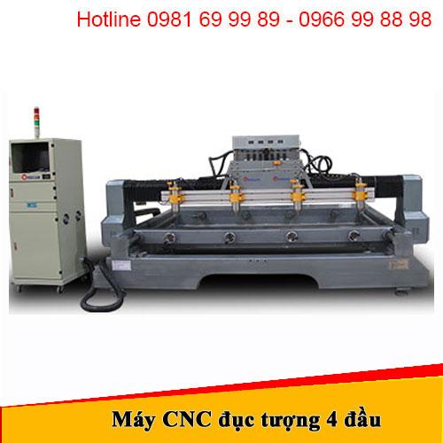 Máy CNC đục tượng 4 đầu Đông Phương1