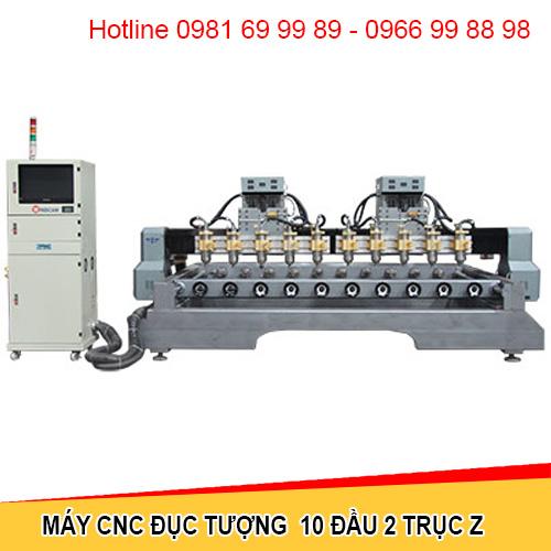 Máy CNC đục tượng 10 đầu 2 trục Z