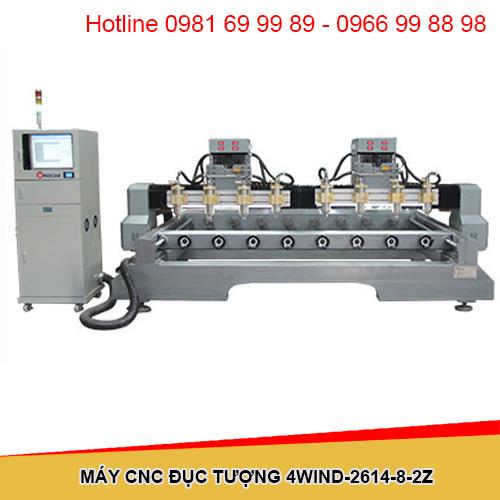 Máy CNC đục tượng 8 đầu 2 trục Z