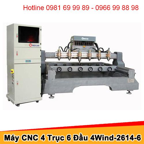 Máy CNC đục tượng 6 đầu 1 trục Z