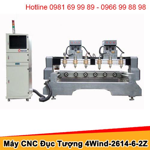 Máy CNC đục tượng 6 đầu 2 trục Z