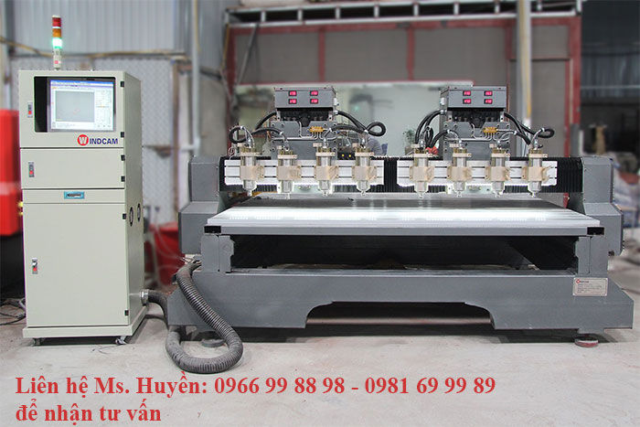 Máy CNC đục tượng lắp mặt bàn di động