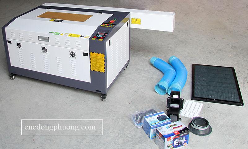 những phụ kiện đi kèm theo máy laser 6040