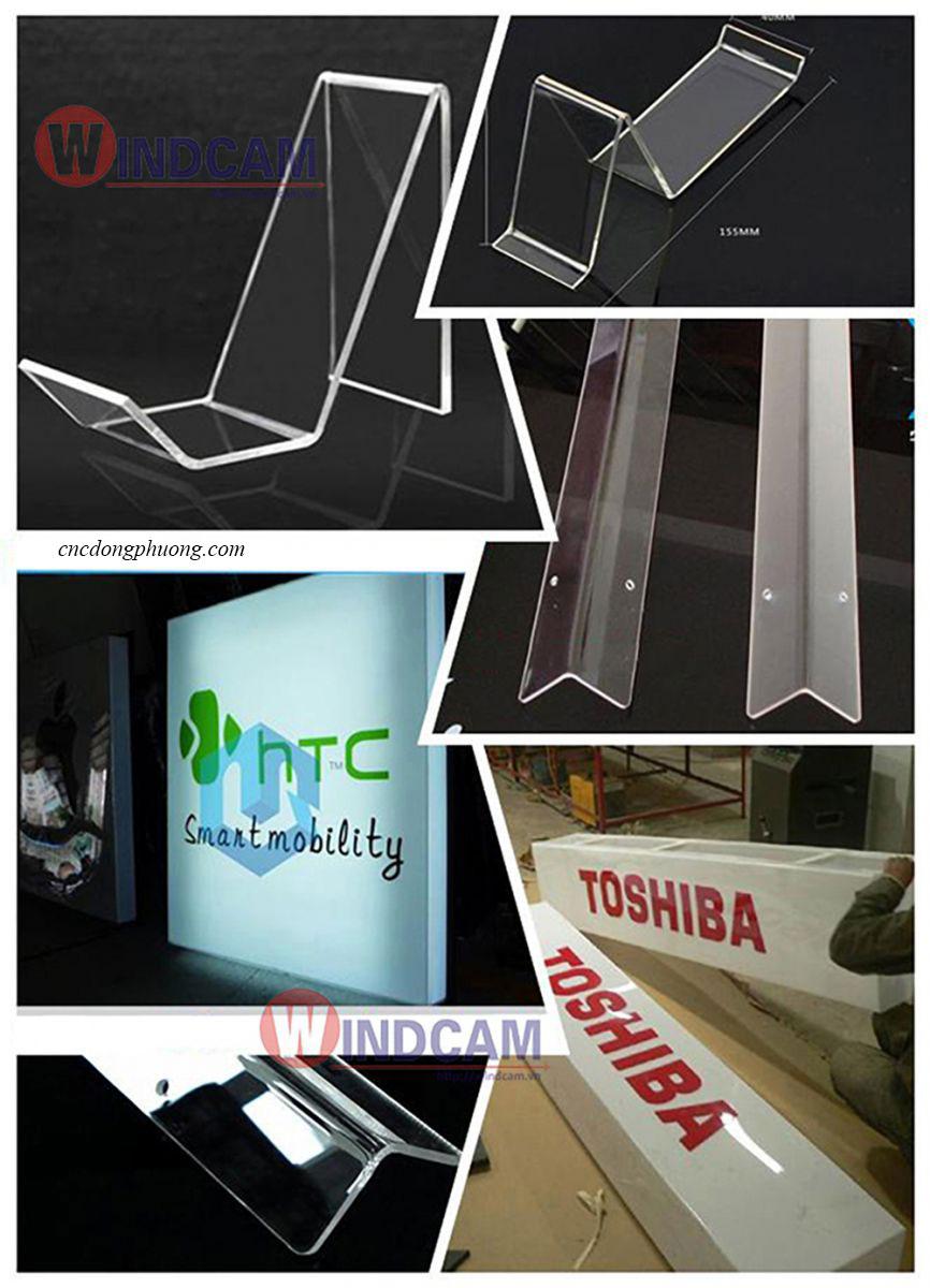 sản phẩm ứng dụng máy uốn mica nhựa