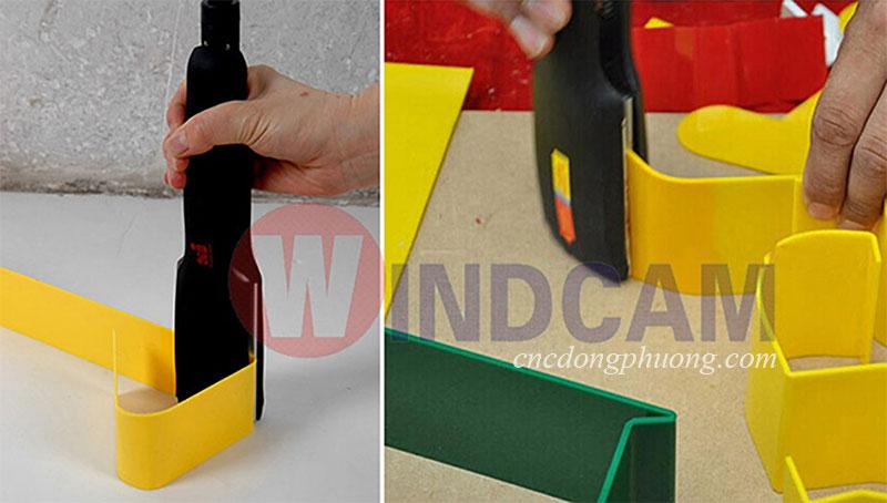Sản phẩm ứng dụng máy uốn mica nhựa góc tròn
