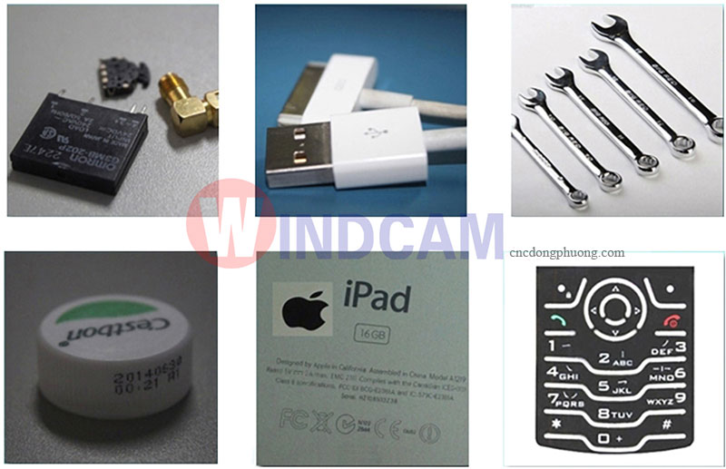 sản phẩm ưng dụng của máy khắc laser khắc kim loại mini