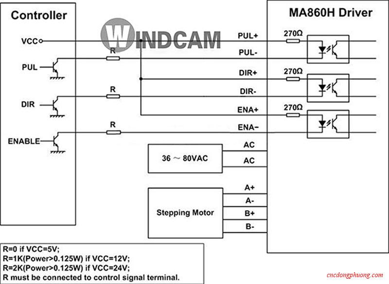 Sơ đồ mạch điều khiển MA860