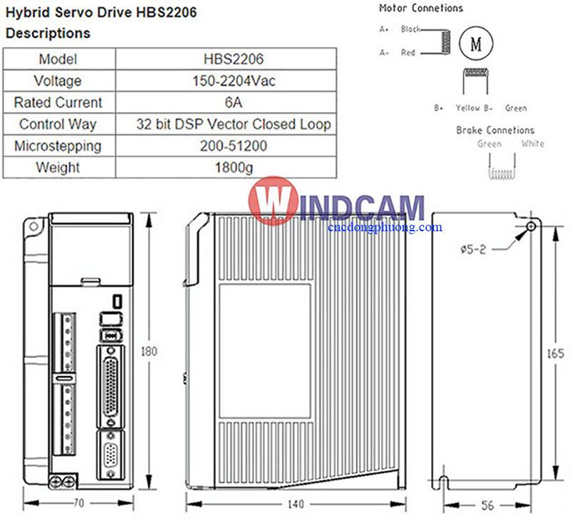 thông sốhybrid servo driver AC HBS 2206