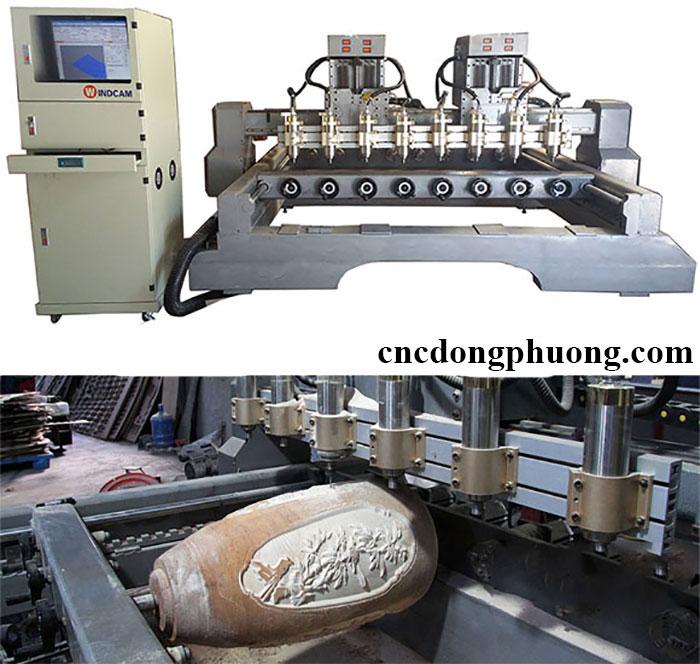 Ứng dụng máy CNC đục tượng 8 đầu