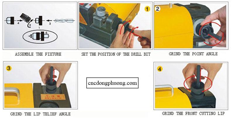 Hướng dẫn sử dụng máy mài mũi khoan gd 13