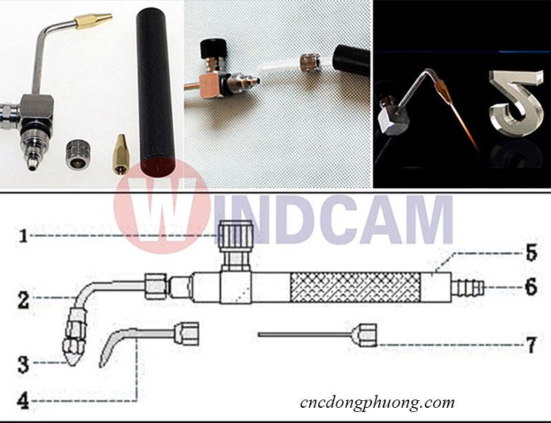 Hướng dẫn sử dụng vòi phun lửa máy khò bóng mica