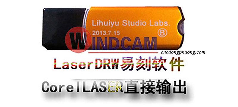khóa phần mềm máy laser màu vàng