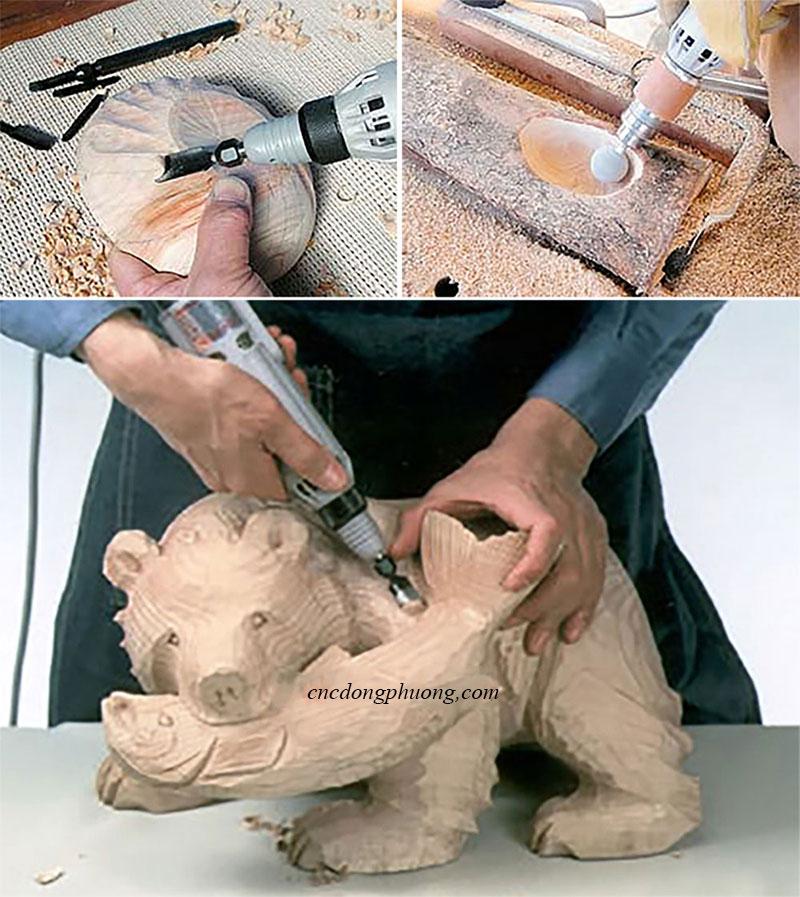 Ứng dụng máy đục cầm tay trong ngành mộc