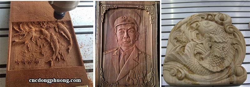 sản phẩm ứng dụng máy khắc gỗ cnc mini 9015-4