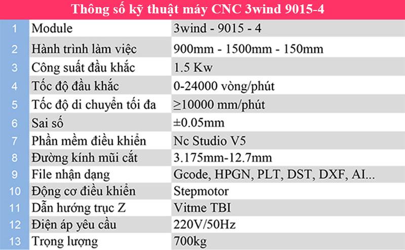 thông số kỹ thuật máy cnc 9015-4