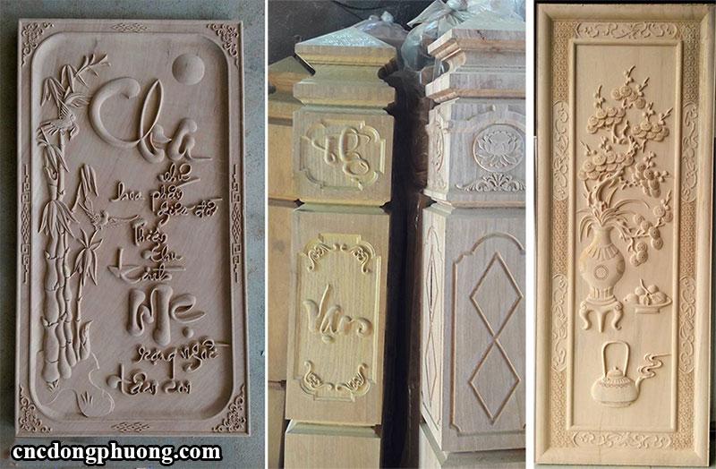 tranh gỗ được đục bằng máy điêu khắc gỗ mini