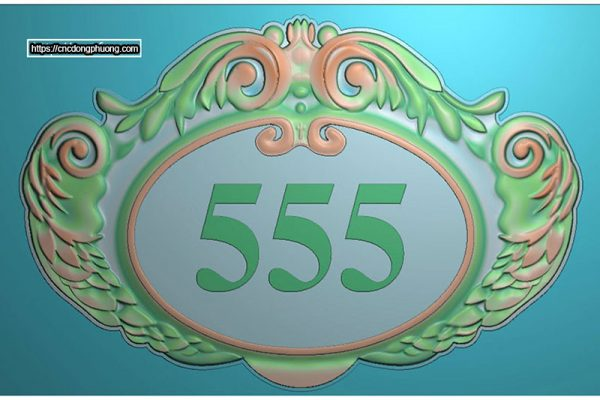 Mẫu bảng số phòng 5411