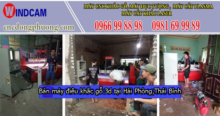 Bán máy điêu khắc gỗ cnc 3d giá rẻ tại Hải Phòng, Thái Bình