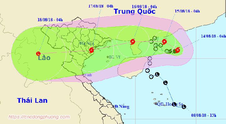 Cập nhật tin tức về cơn bão số 4 Bebinca sắp đổ bộ về Việt Nam