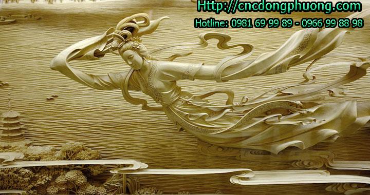 Điêu khắc tranh gỗ đỉnh cao bằng máy cnc khắc gỗ 3d