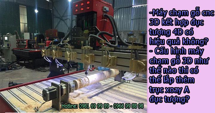 Đục tranh 3D kết hợp đục tượng 4D trên một máy chạm gỗ cnc duy nhất