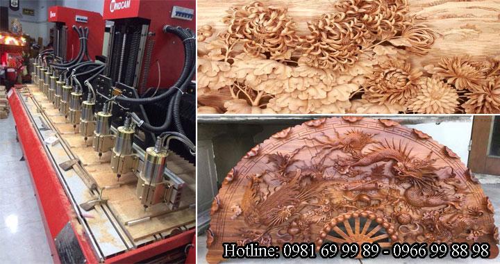 Máy khắc gỗ cnc giá rẻ - sản phẩm tạo ra từ máy điêu khắc gỗ cnc