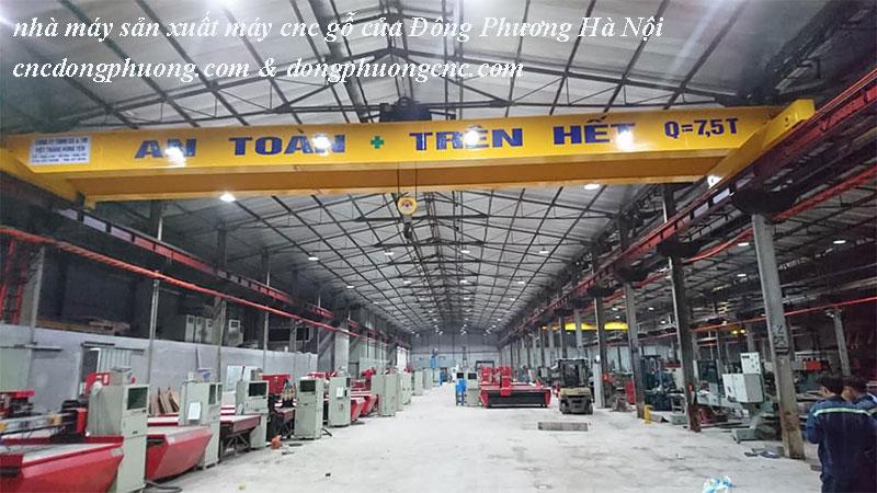 xưởng sản xuất máy cnc gỗ của công ty Đông Phương Hà Nội