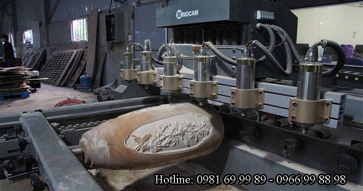 Mua máy đục tượng 4 trục, máy khắc gỗ 3d tại làng nghề gỗ Canh Nậu - Hà Nội5