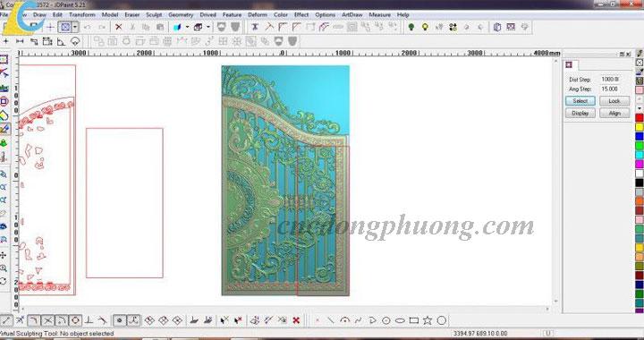 Máy đục cnc làm cửa nhôm đúc, làm khuôn mẫu bằng máy cnc Đông Phương1