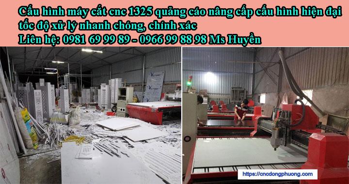 TIN MỚI: Cấu hình máy cắt cnc 1325 thay đổi - CNC ĐÔNG PHƯƠNG