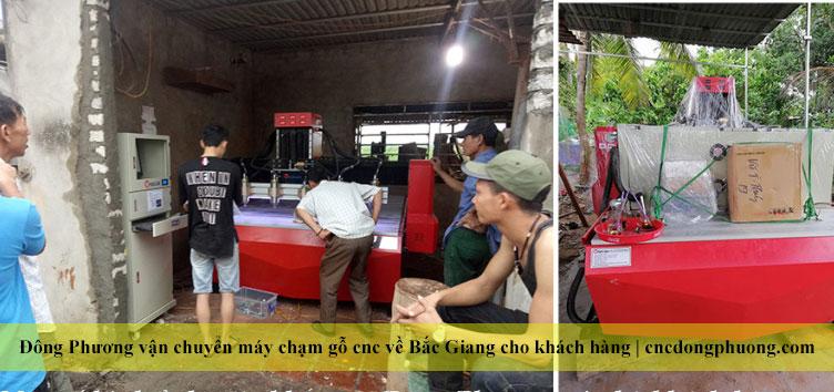 Bán và vận chuyển máy chạm gỗ vi tính, máy cnc gỗ tại Bắc Giang